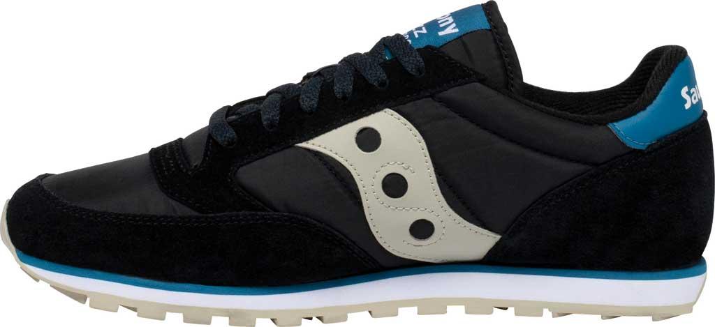 Men's Saucony Originals Jazz Low Pro Sneaker, Black/Cream Nylon/Suede, large, image 3