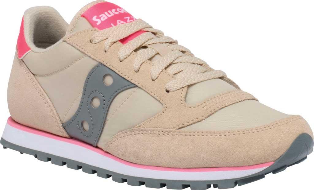 Women's Saucony Originals Jazz Low Pro Sneaker, Tan/Grey, large, image 1