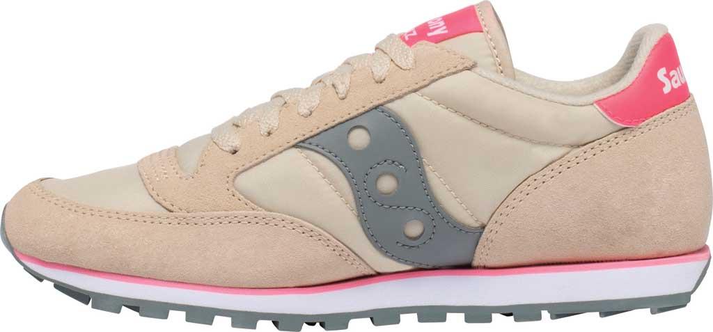 Women's Saucony Originals Jazz Low Pro Sneaker, Tan/Grey, large, image 3