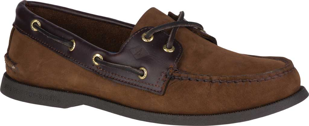 Men's Sperry Top-Sider Authentic Original Boat Shoe, Brown/Brown, large, image 1