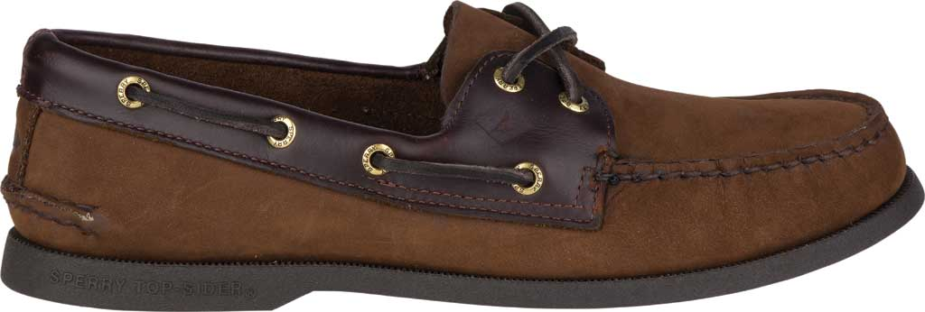 Men's Sperry Top-Sider Authentic Original Boat Shoe, Brown/Brown, large, image 2