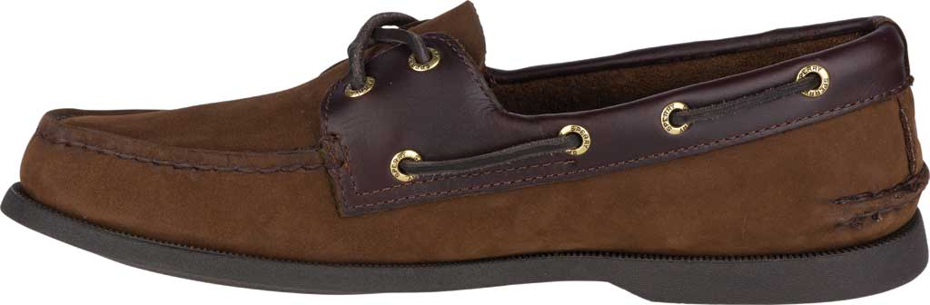 Men's Sperry Top-Sider Authentic Original Boat Shoe, Brown/Brown, large, image 3