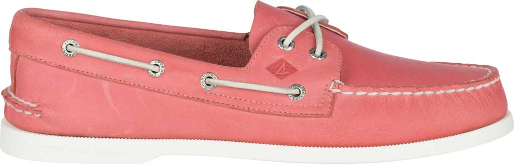 Men's Sperry Top-Sider Authentic Original Boat Shoe, Nantucket Red Full Grain Leather, large, image 2