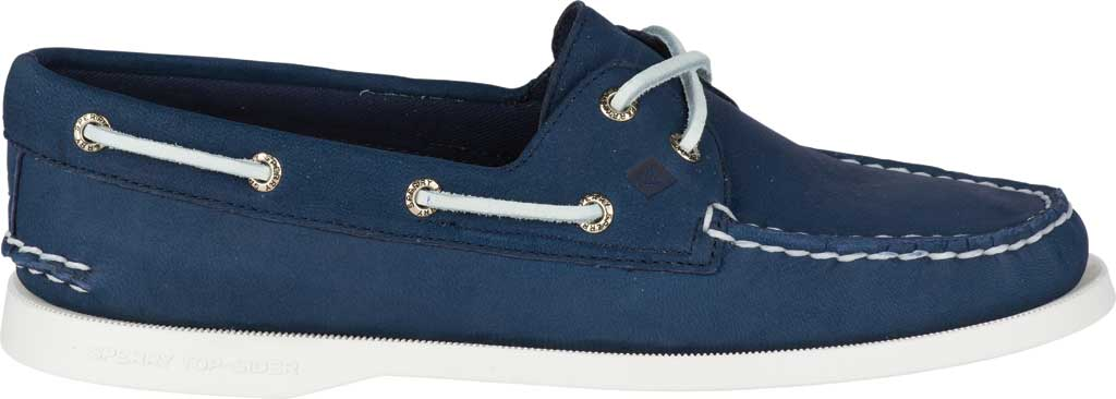 Women's Sperry Top-Sider Authentic Original Boat Shoe, Navy/White Leather, large, image 2