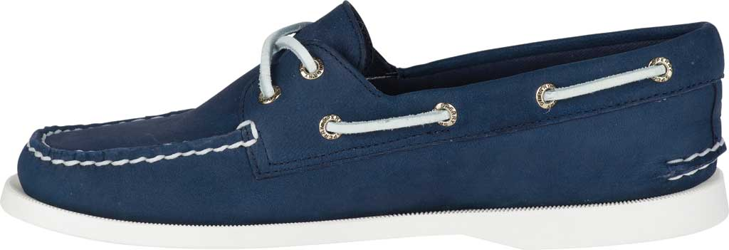Women's Sperry Top-Sider Authentic Original Boat Shoe, Navy/White Leather, large, image 3