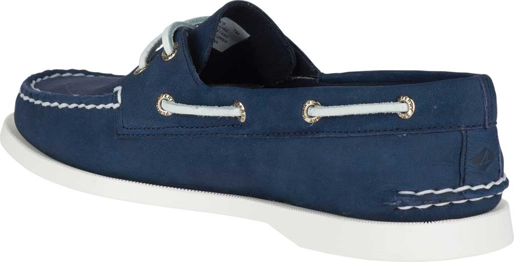 Women's Sperry Top-Sider Authentic Original Boat Shoe, Navy/White Leather, large, image 4