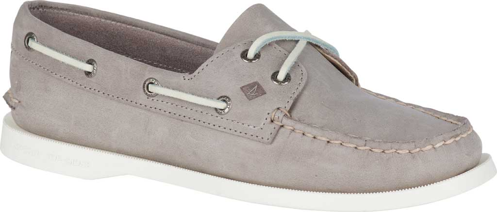 Women's Sperry Top-Sider Authentic Original Boat Shoe, Grey/Grey Leather, large, image 1
