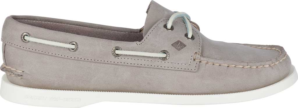 Women's Sperry Top-Sider Authentic Original Boat Shoe, Grey/Grey Leather, large, image 2