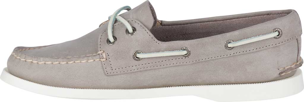 Women's Sperry Top-Sider Authentic Original Boat Shoe, Grey/Grey Leather, large, image 3