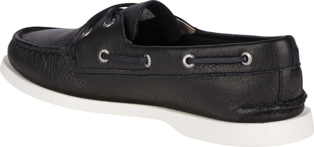 Women's Sperry Top-Sider Authentic Original Boat Shoe, Black/White Leather, large, image 4