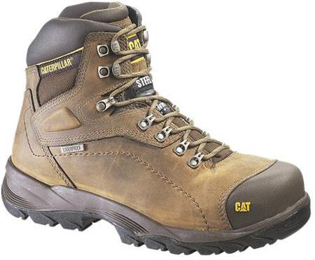 Men's Caterpillar Diagnostic Hi Waterproof Steel Toe, Dark Beige, large, image 1