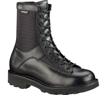 "Men's Bates 8"" DuraShocks Lace to Toe Side Zip E03140, Black, large, image 1"