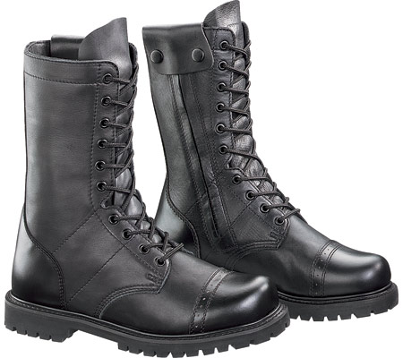 "Men's Bates 11"" Paratrooper Side Zip E02184, Black, large, image 1"