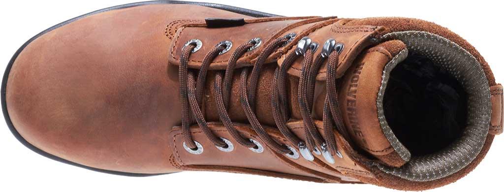 """Men's Wolverine Durashocks Slip Resistant 6"""" Steel Boot, Dark Brown, large, image 5"""