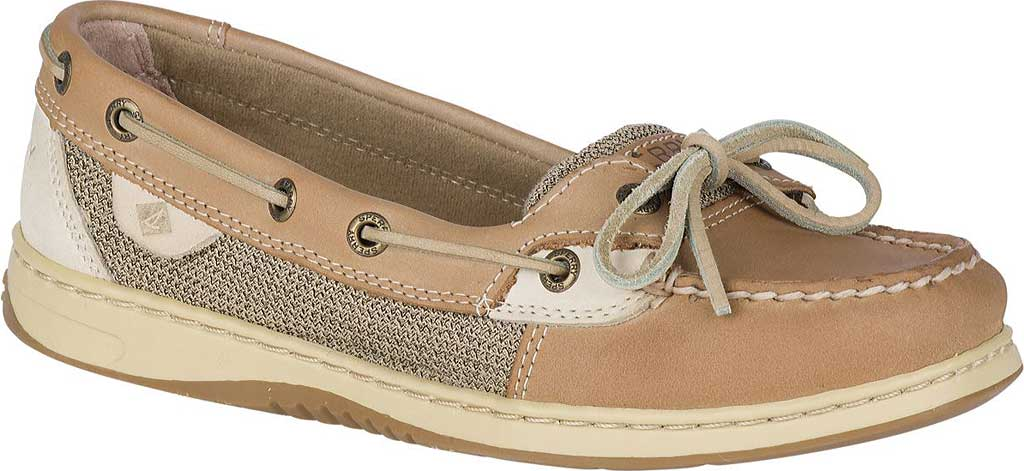 Women's Sperry Top-Sider Angelfish Boat Shoe, Linen/Oat, large, image 1