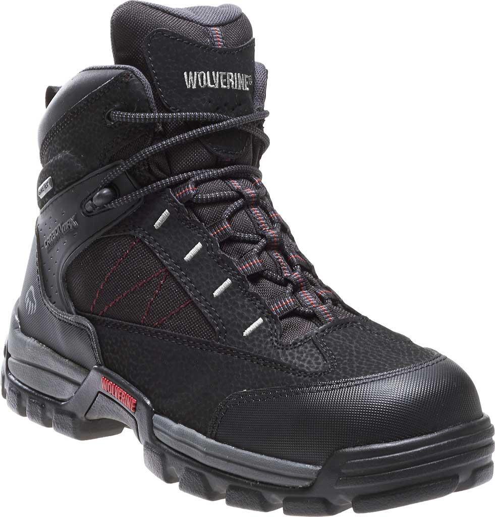"Men's Wolverine Amphibian CarbonMAX Safety-Toe EH GTX WP 6"", Black, large, image 1"
