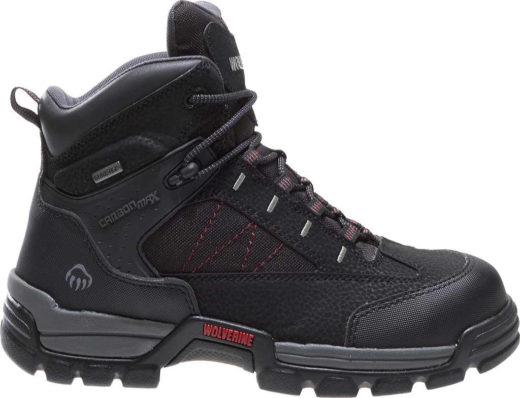 "Men's Wolverine Amphibian CarbonMAX Safety-Toe EH GTX WP 6"", Black, large, image 2"