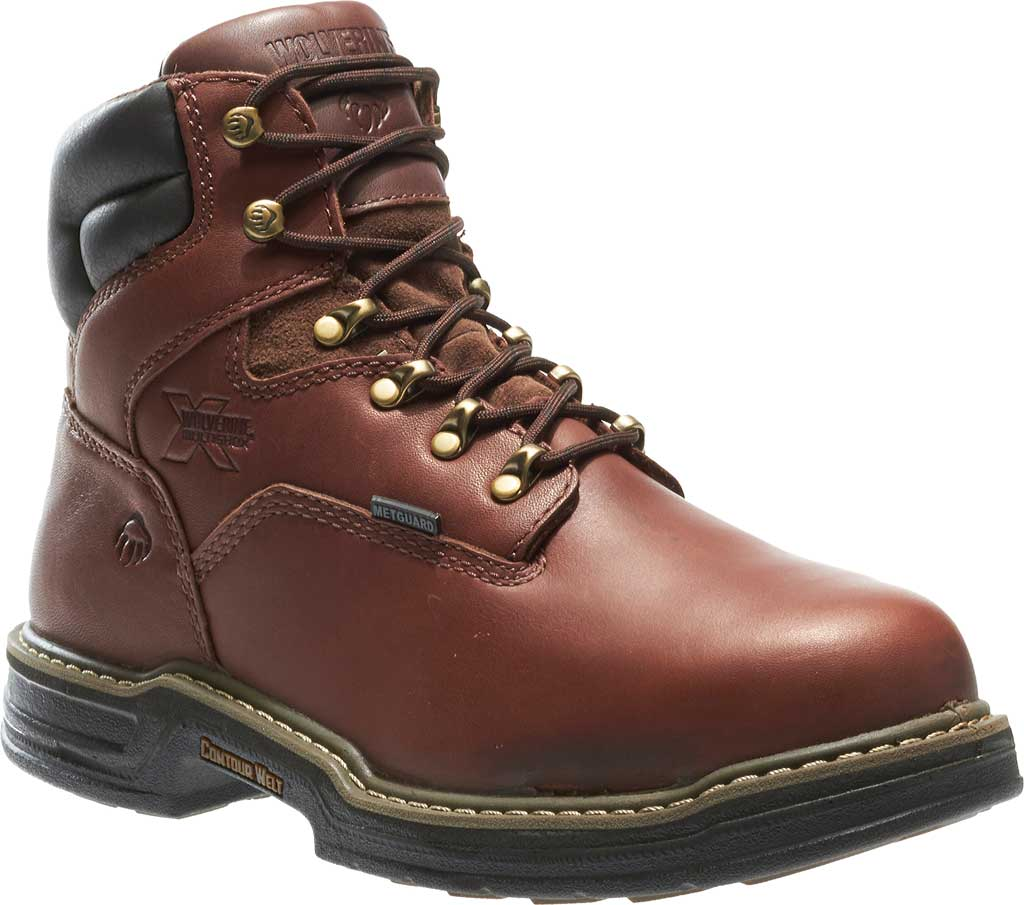 """Men's Wolverine Darco MultiShox Contour Welt 6"""" WP ST EH Boot, Brown, large, image 1"""