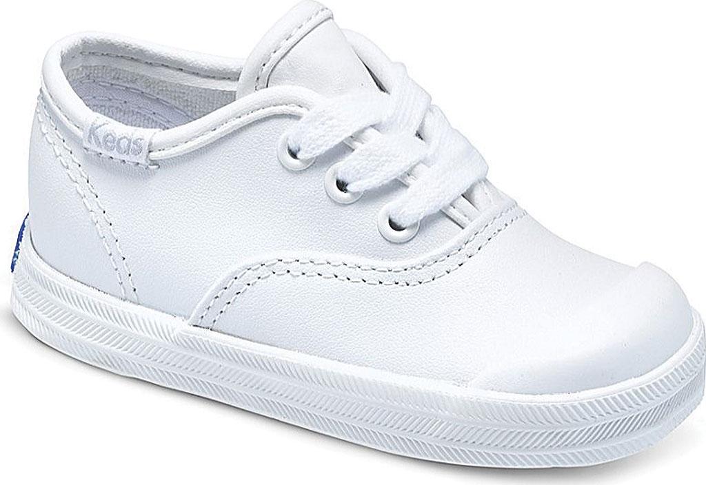 Infant Girls' Keds Champion Leather Toe Cap, White Leather, large, image 1