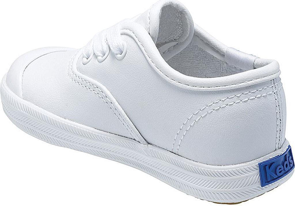 Infant Girls' Keds Champion Leather Toe Cap, White Leather, large, image 2