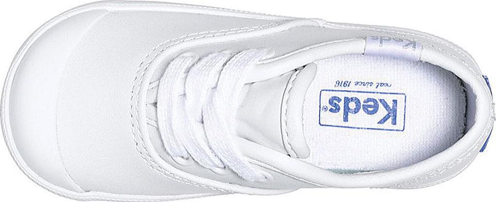 Infant Girls' Keds Champion Leather Toe Cap, White Leather, large, image 3