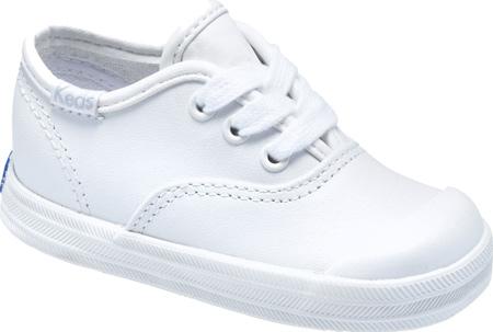 Infant Girls' Keds Champion Lace Toe Cap, White Leather, large, image 1