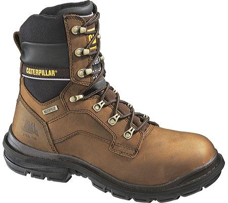 "Men's Caterpillar Generator 8"" Waterproof Steel Toe Work Boot, Dark Brown, large, image 1"