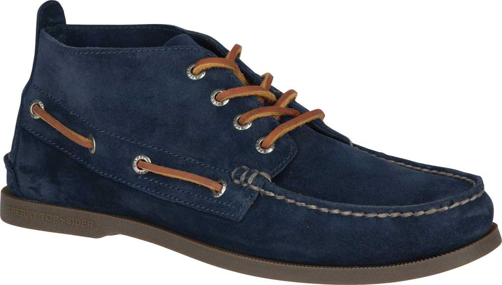 Men's Sperry Top-Sider A/O Chukka Suede, Navy Suede, large, image 1