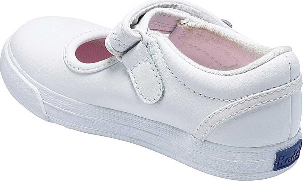 Infant Girls' Keds Ella MJ, White Leather, large, image 2