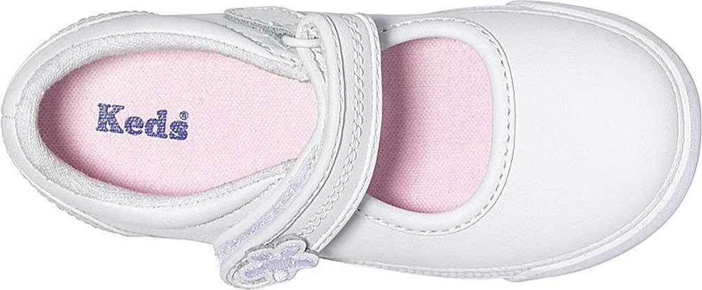 Infant Girls' Keds Ella MJ, White Leather, large, image 3