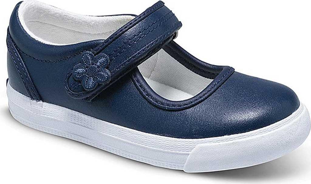Infant Girls' Keds Ella MJ, Navy Leather, large, image 1