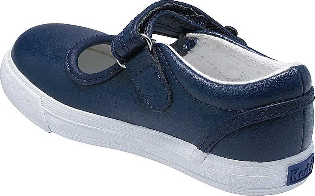 Infant Girls' Keds Ella MJ, Navy Leather, large, image 2