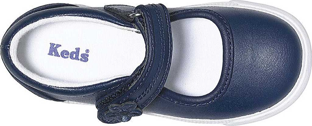 Infant Girls' Keds Ella MJ, Navy Leather, large, image 4