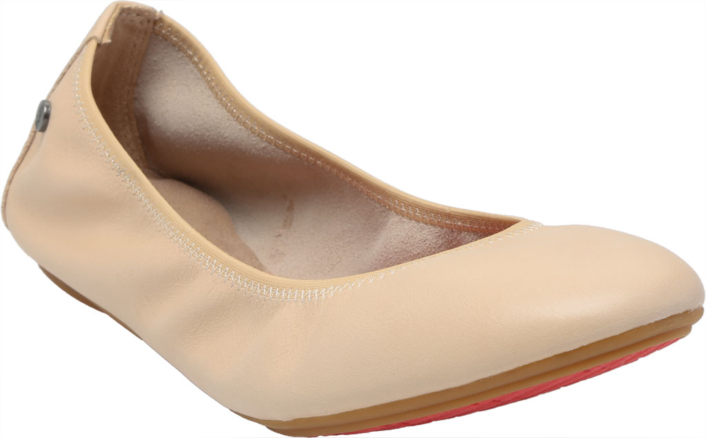 Women's Hush Puppies Chaste Ballet Flat, Nude Leather, large, image 1