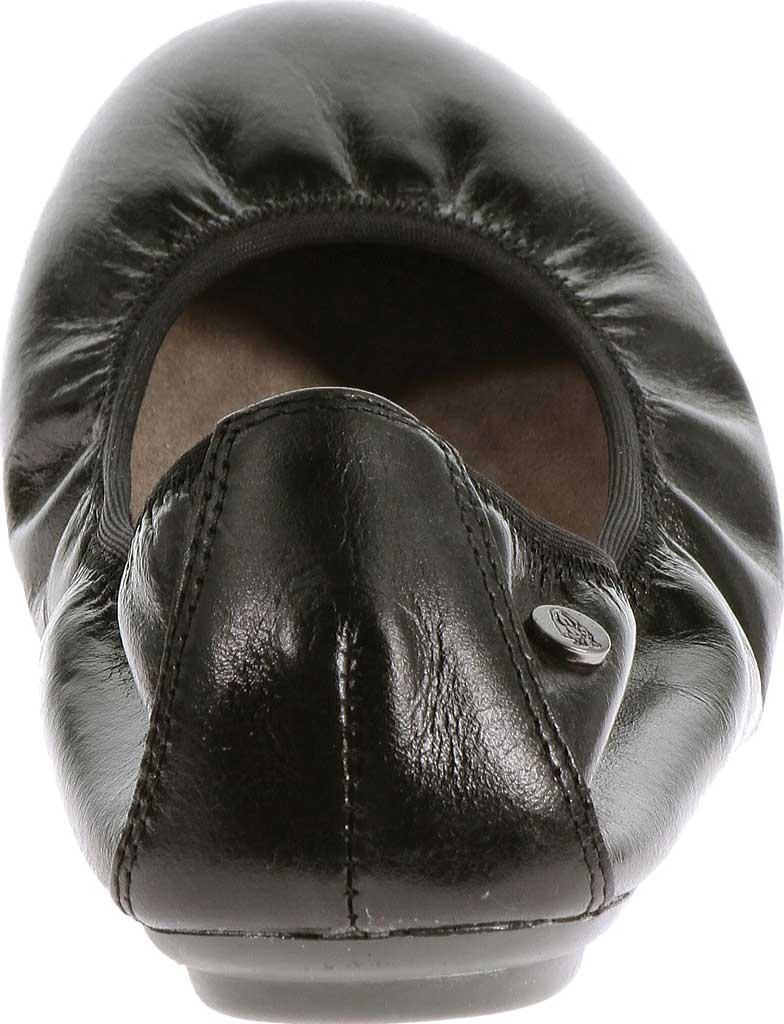 Women's Hush Puppies Chaste Ballet Flat, Black Leather, large, image 3