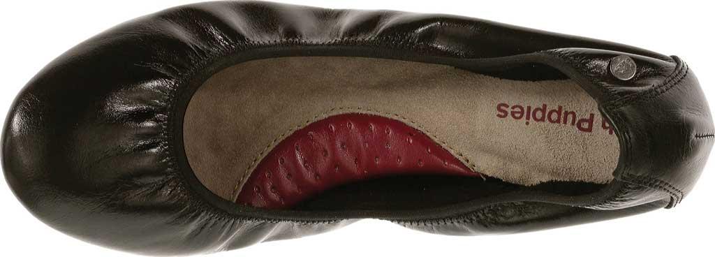 Women's Hush Puppies Chaste Ballet Flat, Black Leather, large, image 4