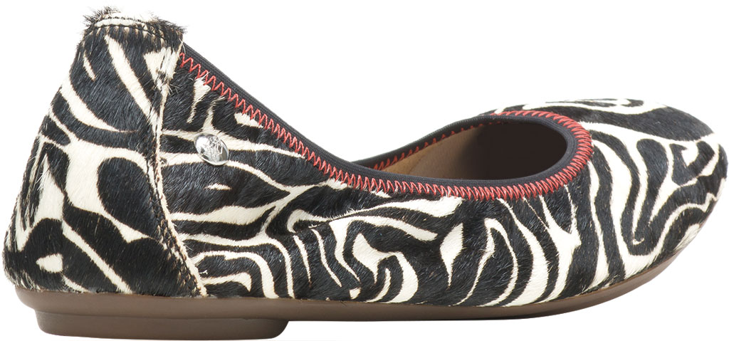 Women's Hush Puppies Chaste Ballet Flat, Zebra Calf Hair, large, image 3