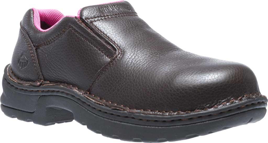 Women's Wolverine Bailey Opanka Slip-On Steel Toe EH Boot, Brown, large, image 1