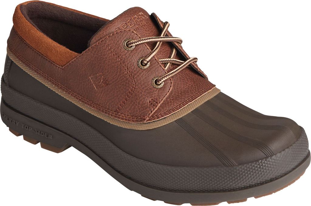 Men's Sperry Top-Sider Cold Bay 3-Eye, Brown/Tan Leather/Rubber, large, image 1