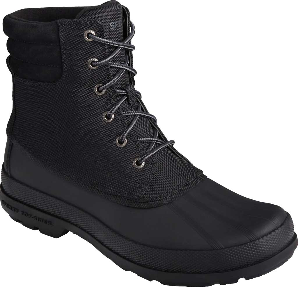Men's Sperry Top-Sider Cold Bay Boot, Black Nylon/Rubber, large, image 1
