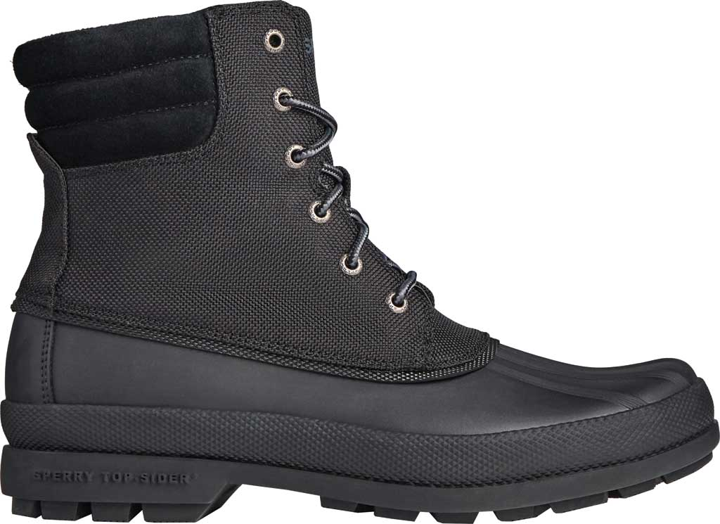 Men's Sperry Top-Sider Cold Bay Boot, Black Nylon/Rubber, large, image 2