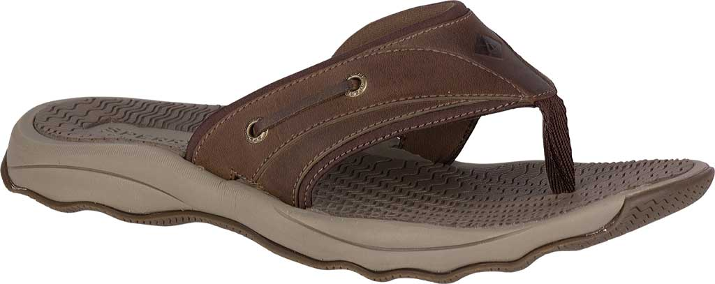 Men's Sperry Top-Sider Outer Banks Thong, Brown Full Grain/Oiled Leather, large, image 1