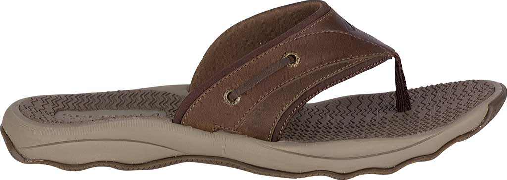Men's Sperry Top-Sider Outer Banks Thong, Brown Full Grain/Oiled Leather, large, image 2