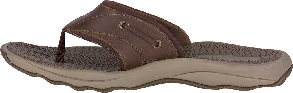 Men's Sperry Top-Sider Outer Banks Thong, Brown Full Grain/Oiled Leather, large, image 3