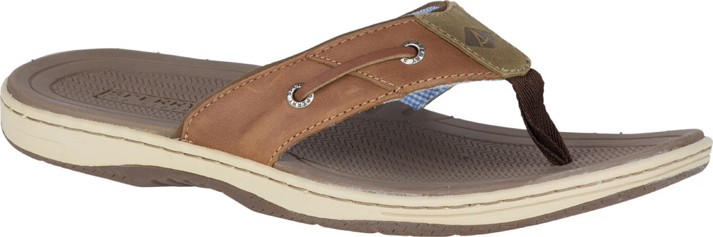 Men's Sperry Top-Sider Baitfish Thong, Tan (Boxed), large, image 1