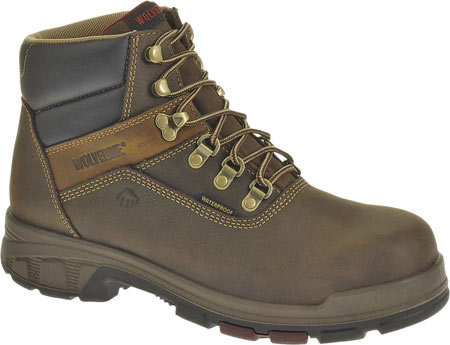 """Men's Wolverine Cabor EPX PC Dry Waterproof 6"""" Boot, Dark Brown, large, image 1"""