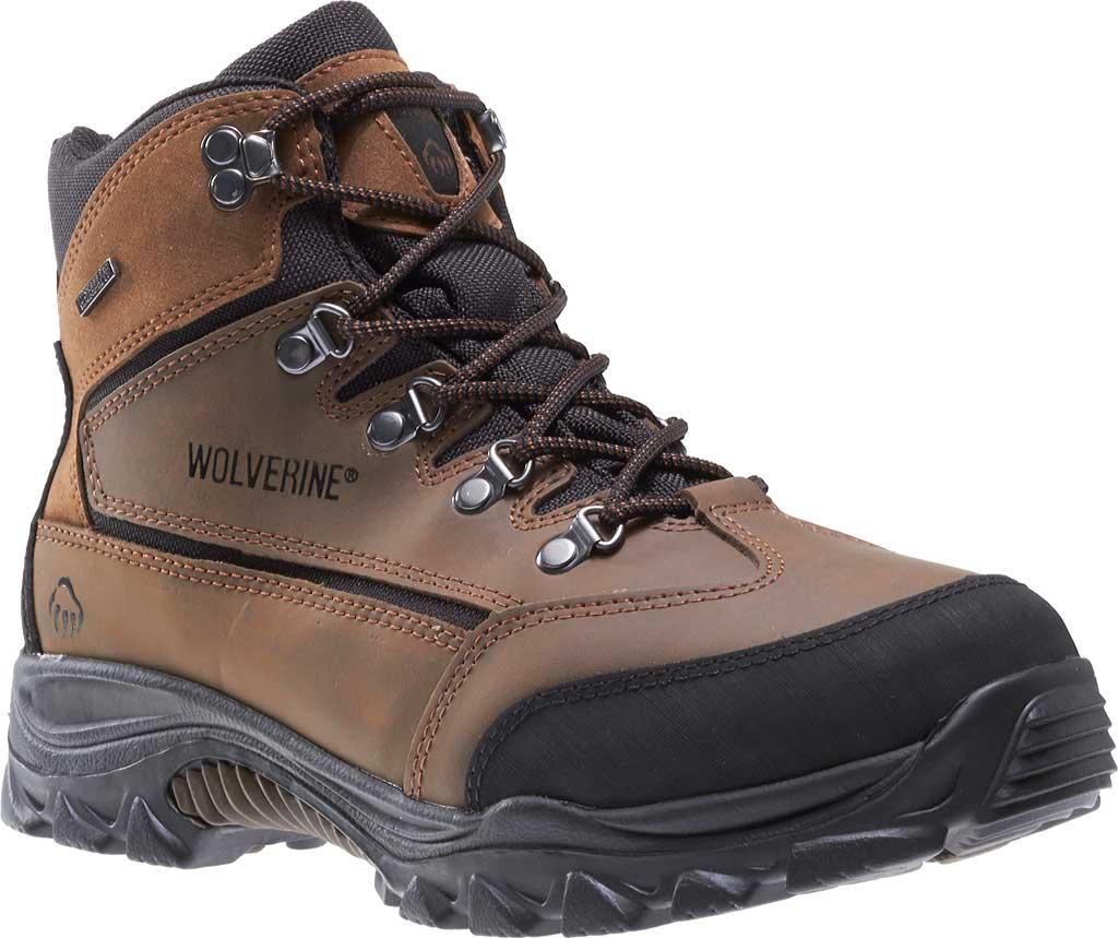 Men's Wolverine Spencer WP Hiker W05103, Brown/Black, large, image 1