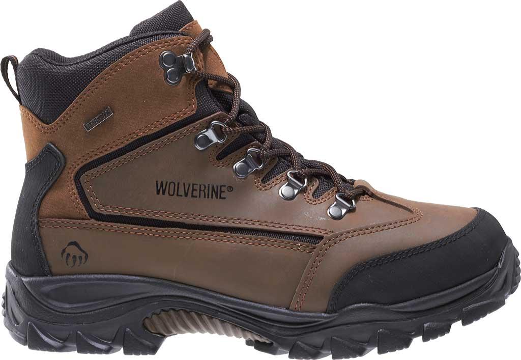 Men's Wolverine Spencer WP Hiker W05103, Brown/Black, large, image 2