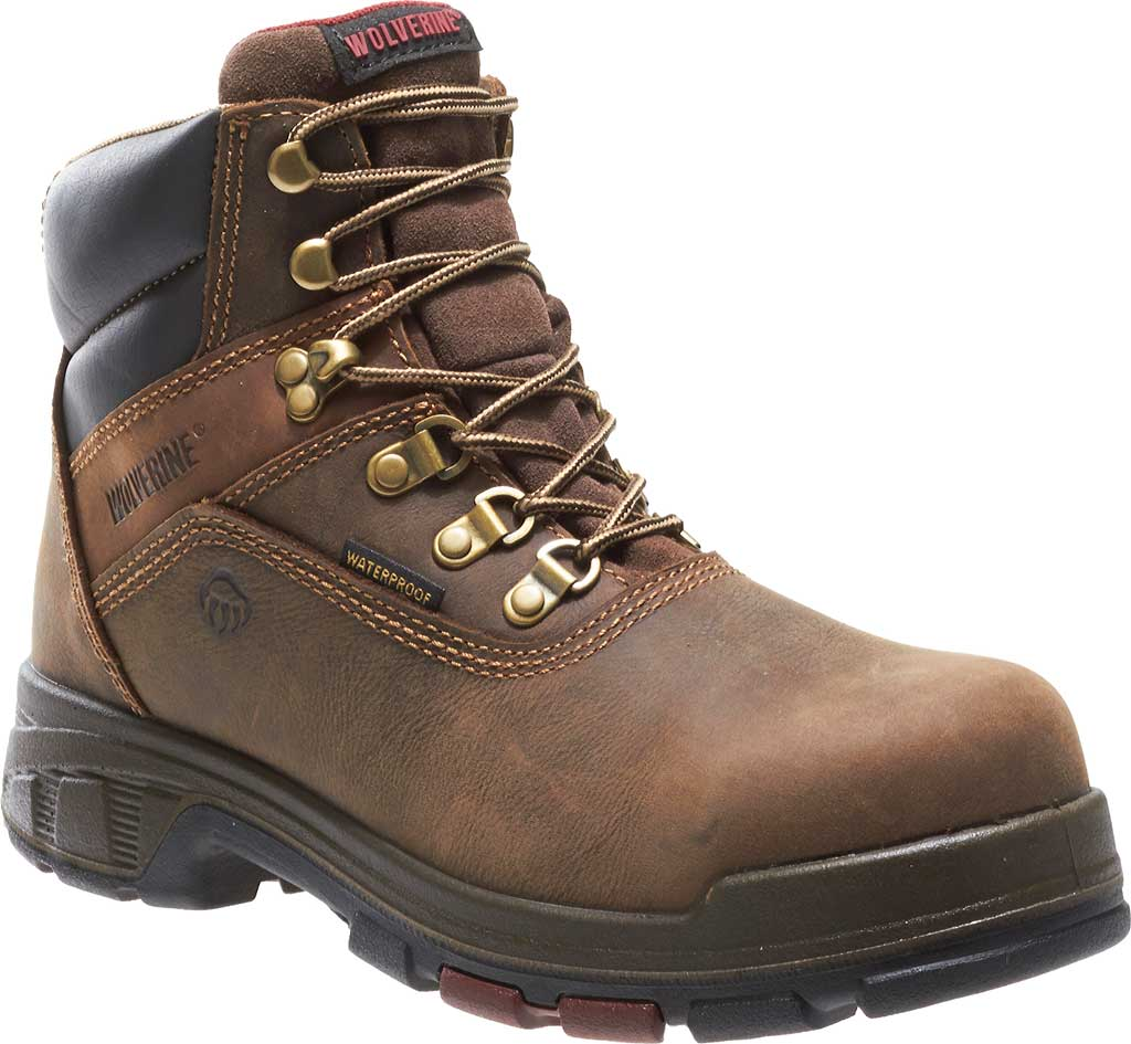 """Men's Wolverine Cabor EPX PC Dry Waterproof 6"""" Composite Toe Boot, Dark Brown, large, image 1"""