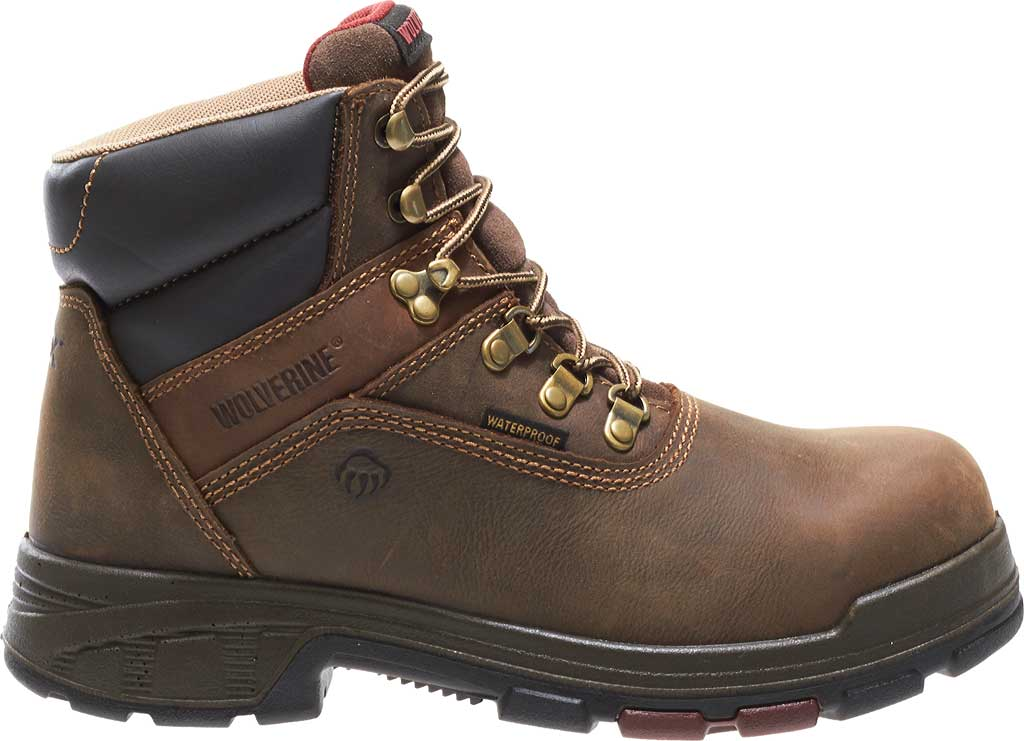 """Men's Wolverine Cabor EPX PC Dry Waterproof 6"""" Composite Toe Boot, Dark Brown, large, image 2"""